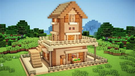minecraft videos how to build a house minecraft starter house tutorial 2 how to build a house in minecraft easy youtube