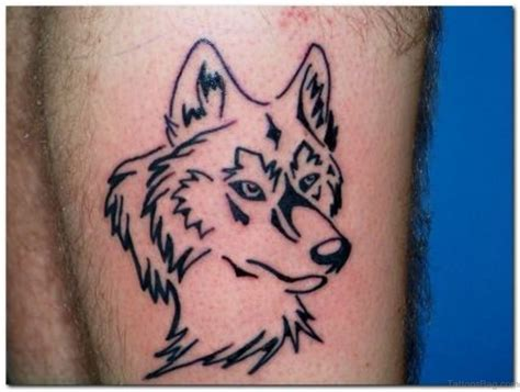 wolf outline tattoo 41 marvelous wolf tattoos for leg