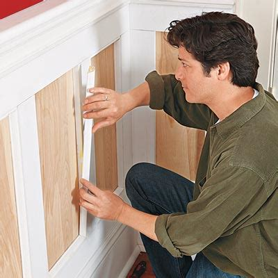 How To Put Up Wainscoting Panels Trim Out The Panels How To Install Wainscoting This