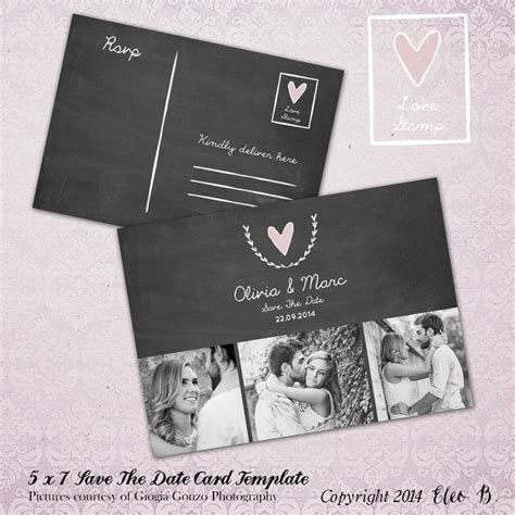 save the date postcard save the date template wedding