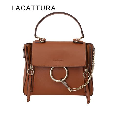 3 5 Bag Fashion 2948 lacattura 2017 new arrival it bag fashion brand design handbag genuine leather cloe bag