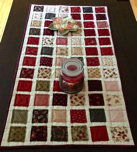 mini charmer quilt as you go table runner