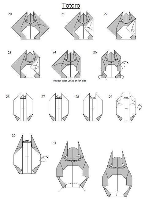 Origami Totoro - 66 best totoro images on totoro origami paper