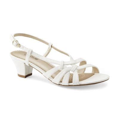 jaclyn smith womens tamyra white slingback dress sandal