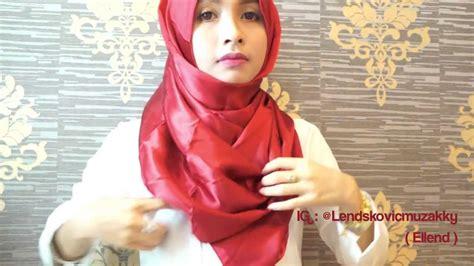 tutorial hijab pashmina satin shawl hijab tutorial 13 simple satin shawl by ellend youtube