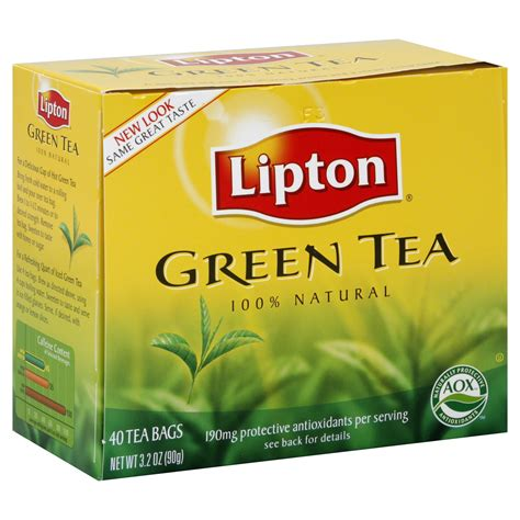 Teh Lipton Green Tea lipton tea bags green tea 40 tea bags 3 2 oz 90 g shop your way shopping earn