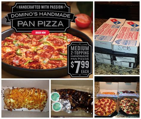Handmade Pan Pizza Coupon - domino s pizza family deal my savings