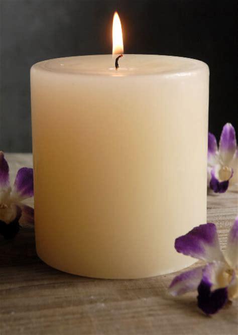 Vase Lighting Pillar Candles 4x4 Unscented Ivory