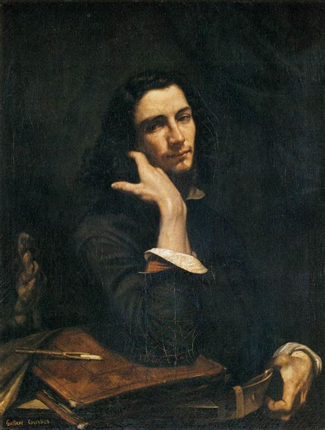 courbet biography artist file gustave courbet self portrait man with leather
