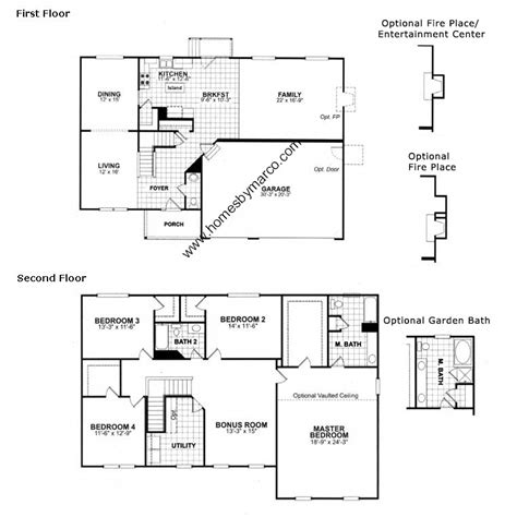 ryland floor plans ryland home floor plans