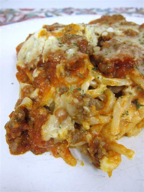 baked cream cheese spaghetti casserole plain chicken