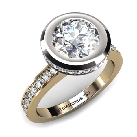 rub setting engagement rings engagement ring usa