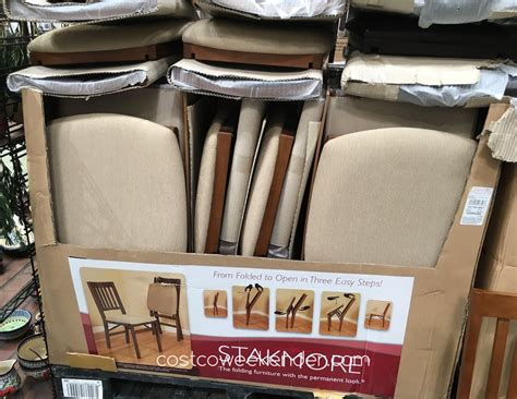 Wood Folding Chairs Costco by Stakmore Wood Folding Chair With Upholstered Seat Costco