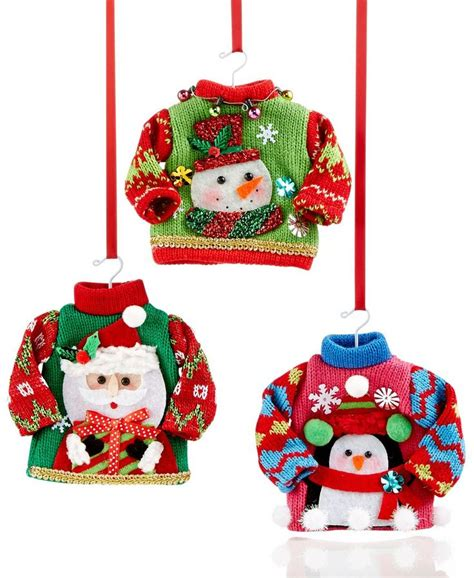 ugly christmas sweater ornaments christmas decore