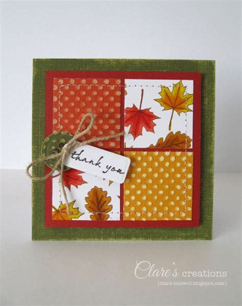Different Paper Crafts - autumnal cards by cbuswell cards and paper crafts at