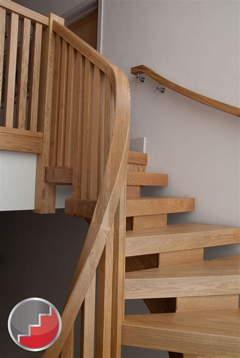 oak stair banister oak curved staircase contemporary x vision design oak