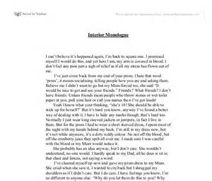 interior monologue gcse marked by teachers