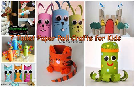 Paper Crafts For Children - 7 toilet paper roll crafts for diy craft projects