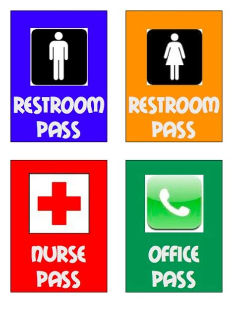 bathroom pass template high school piles of pencils restroom passes necessary