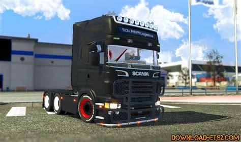 download mod game ets scania r2008 black edition 187 download ets 2 mods truck