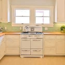 Vintage Kitchen Tile Backsplash The Jadite Colored Backsplash Kitchens