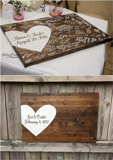 rustic wedding guest book ideas deer pearl flowers
