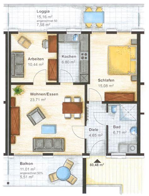 wohnung 80 m2 haus 4 wohnungstypen