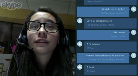 skype translator translate between english and spanish speech on the fly