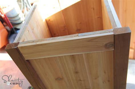 how to build a planter box bench diy planter box bench shanty 2 chic