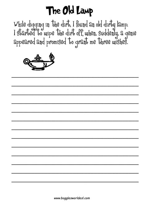 14 best images of second grade writing prompts worksheets