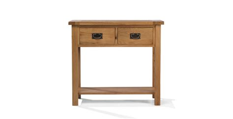 Oak Console Table Rustic Oak Console Table Lifestyle Furniture Uk