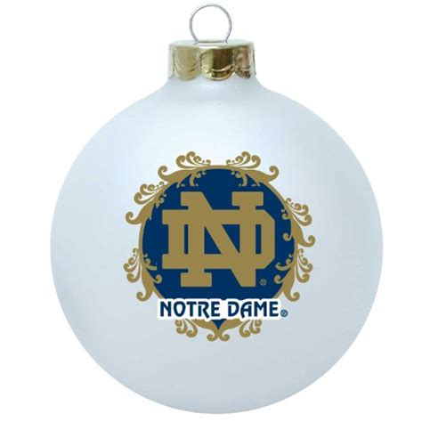 notre dame tree ornament notre dame fighting irish tree