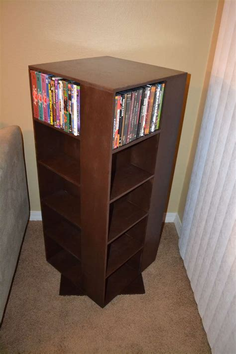 dvd racks ana white my first project spinning dvd rack diy projects