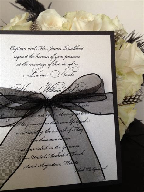 white and wedding invitations black white wedding theme ideas dipped in lace