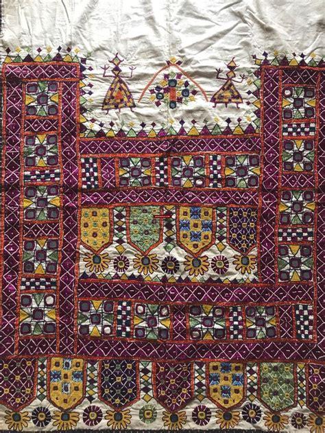 vintage kutch embroidery home decor  gujarat