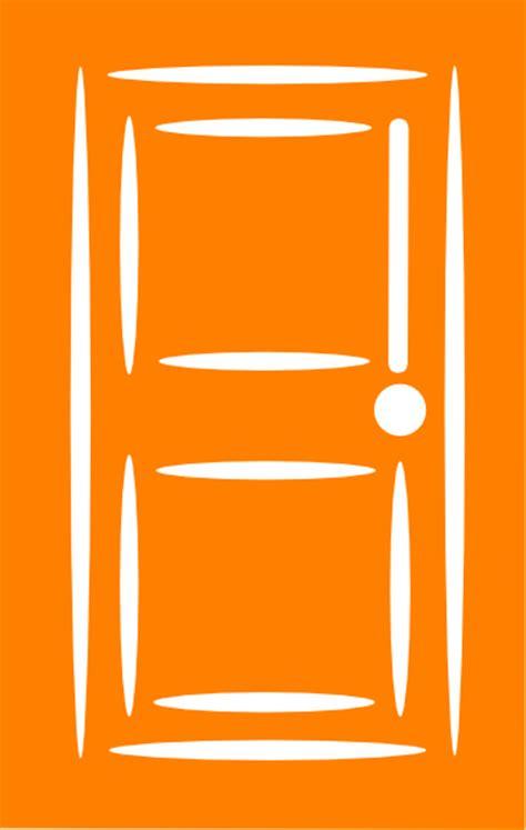 door clipart orange door clip at clker vector clip