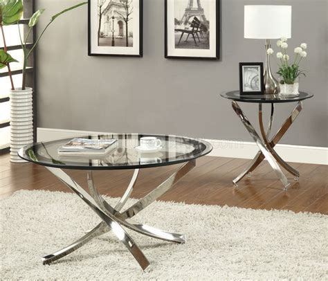 Coffee Table Sets Glass Top 702588 Coffee Table 3pc Set By Coaster W Glass Top