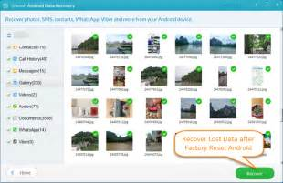 factory reset android recover photos how to recover lost data from android after factory reset
