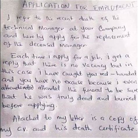 Employment Letter Nairaland See Dis Hilarious Application Letter Vacancies Nigeria