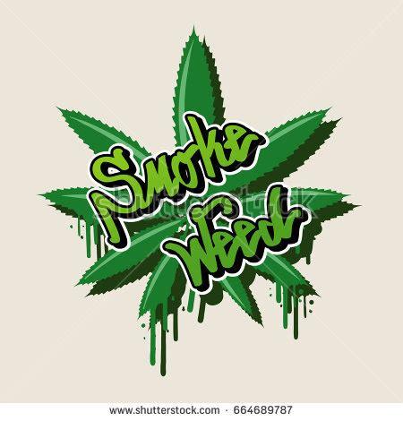 graffiti weed wallpaper smoke weed text weed leaf graffiti stock vector 664689787