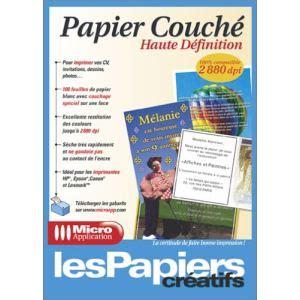 couche definition micro application 100 feuilles de papier 233 haute