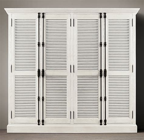 Shutter Closet Doors Diy Shutter Door Wardrobe India Pied 224 Terre Idea Restoration Hardware Knock Shutter