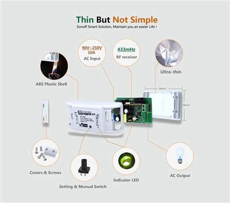 itead sonoff rf wifi wireless switch for smart home