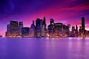 Cityscape Wall Stickers quot new york city manhattan skyline at night quot posters by