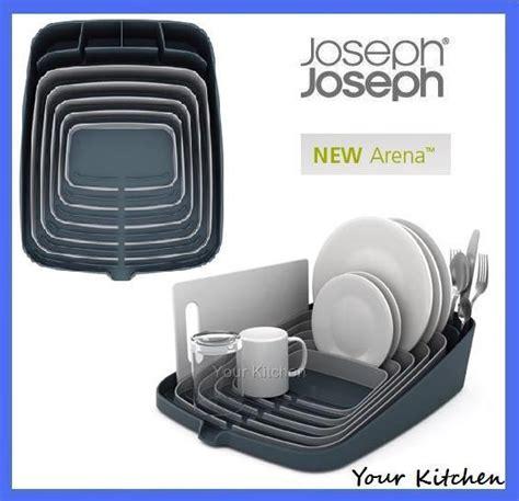 Arena Dish Rack by Joseph Joseph Dishrack Grey Self Draining Board Arena New
