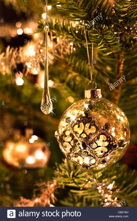 pictures of christmas trees with vertical lights tree decoration in silver and glass with lights vertical stock photo royalty free