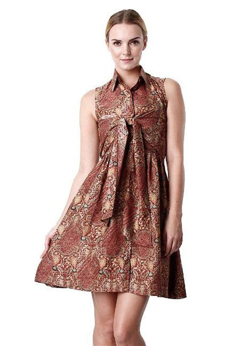 Dress Ethnic Dress Impor Dress Batik Dress Kerja model baju kerja batik lung model baju batik terbaru
