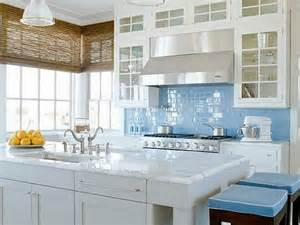 Blue Kitchen Tile Backsplash light blue glass subway tile backsplash home design ideas