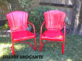 vintage metal patio furniture shabby brocante vintage metal lawn chairs