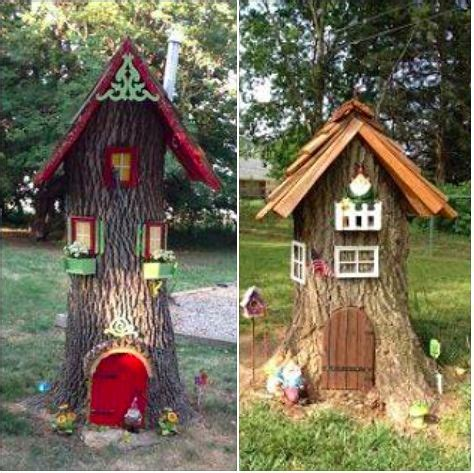 11 best images about tree stump gnome houses on